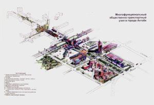 Актобе Многофункциональный общественно-транспортный узел