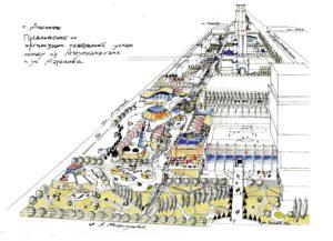 Актобе. Проектное предложение по развитию пешеходной улицы параллельно проспекту Абулхаирхана