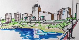 Эскизное предложение по застройке берега р. Тобол