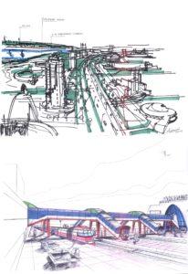"""Перспективы развития железнодорожного вокзала со строительством пассажирских конкорсов в сторону жилого района """"Москва"""""""