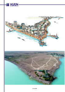 Фрагмент зоны отдыха возле села Торангылык на озере Балхаш. Вариант 1