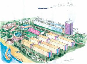 Эскизное предложение нового университета в г.Актау. №3