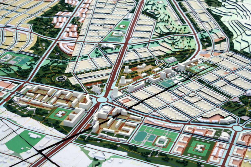 Разработка ПДП нового жилого массива усадебной застройки «Акжар» (юго-западнее автодороги Шымкент-Ташкент). Макет